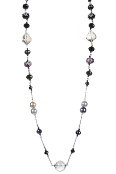 Pearl Crystal Costume Jewelry Necklaces N1484