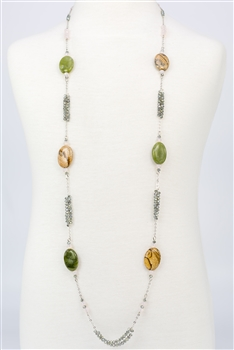 Long Crystal Necklaces N1689