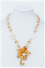 Flower Crystal Pendant Necklaces N1691