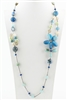 Flower Crystal Long Necklaces N1723