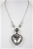 Big Heart Crystal Pendant Necklaces N1726