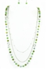 Long Bead Necklace N1831 - Green