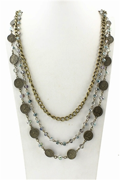 Coin Multi-layer Long Necklaces N1899