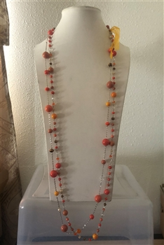 Long Crystal Necklaces  N1909