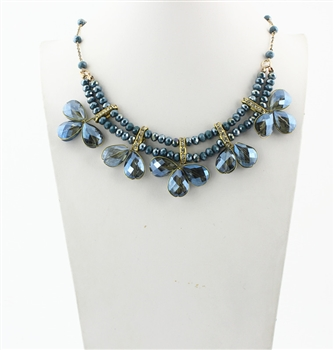 Crystal Necklaces N1955 - Blue