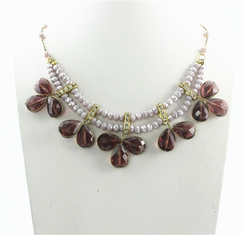 Crystal Necklaces N1955 - Purple