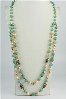 Pearl and Natural stone Necklaces N1975