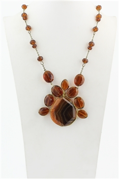 Crystal Natural Stone Pendant Necklaces N1986