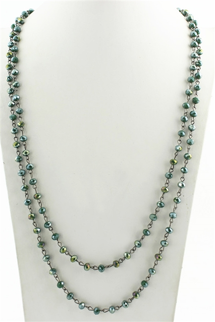 Long Crystal Necklaces  N2039