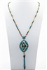 Long Turquoise Tassel Necklaces N2055