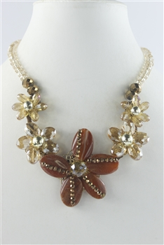 Starfish Crystal Necklaces N2076