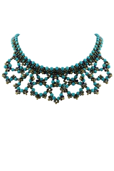 Crystal Beaded Choker Necklaces N2082