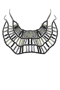Special Black Crystal Bead Necklaces N2108