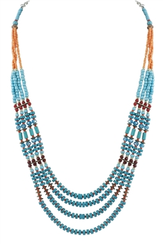 Long Blue Turquoise Necklaces N2110