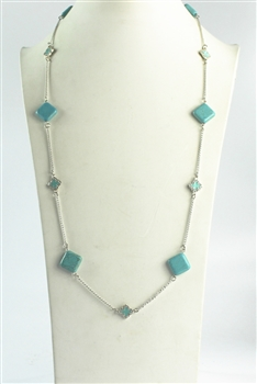 Long Turquoise Necklaces N2136