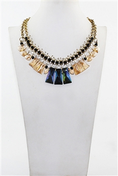 Crystal Gemstone Necklaces N2156