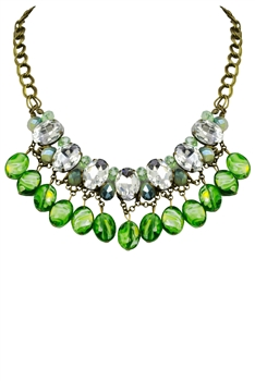 Crystal Necklaces N2164 - Green