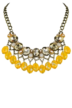 Crystal Necklaces N2164 - Yellow