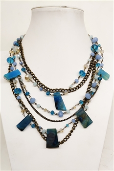 Crystal Necklaces N2172 - Blue