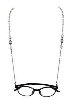 Fashion Crystals Glasses Spectacles Necklace N2186 - Gold