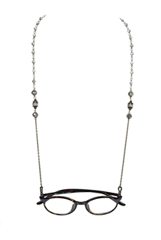 Fashion Crystals Glasses Spectacles Necklace N2186 - Grey