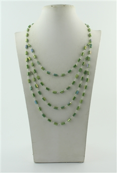 Multi-layer Crystal Necklaces N2226 - Green