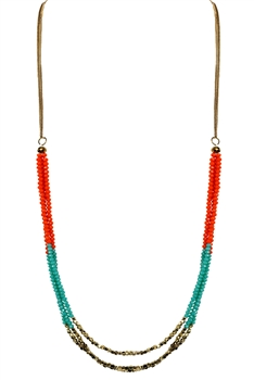 Crystal Beaded Necklaces N2253 - Blue