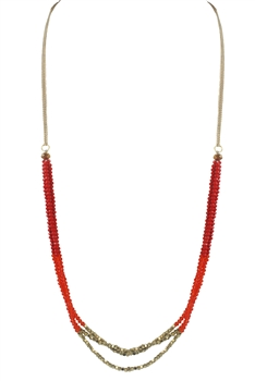 Crystal Beaded Necklaces N2253 - Red