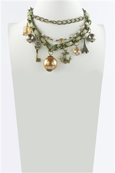 Cotton Pearl Small pendant Necklace N2284