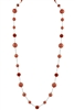 Fashion Crystal Beaded Long Necklace N2288