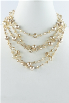 Multi-layer Crystal Short Necklaces N2298