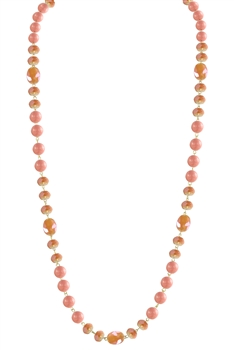 Crystal Pearl Necklace N2307 - Coral