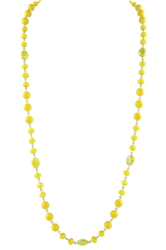 Crystal Pearl Necklace N2307 - Yellow