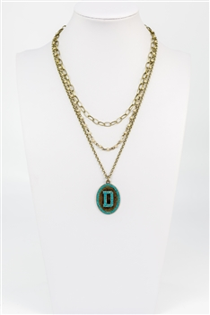 Chain Metal Alphabet Necklace N2312 - D