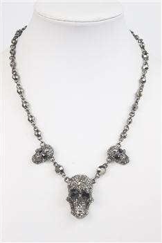 Crystal and Skull Necklace N2325