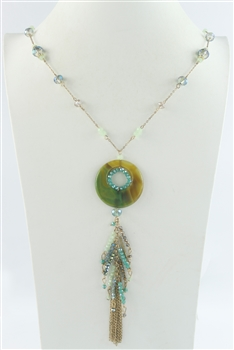 Gemstone and Crystal Necklace N2337