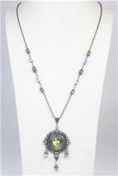 Crystal Beauty Painting Necklace N2346