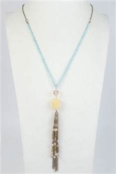 Long Tassel Chain Necklaces  N2350