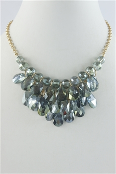 Big Crystal Necklace N2357 - Green