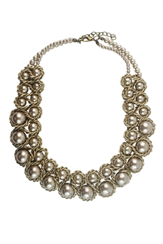 Fashion Short Imitation Pearl Necklaces N2364