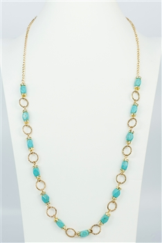Turquoise Long Necklace N2369