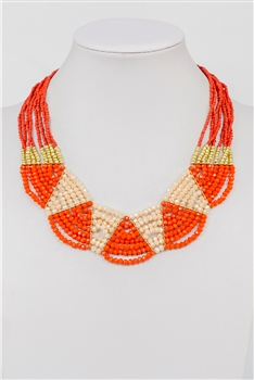 Crystal Beaded Colorful Necklace N2376