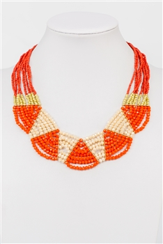 Necklace N2376 - Orange