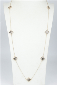 Simple Design Crystal Long Necklace N2379