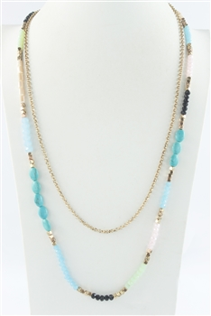Natural Stone Crystal Necklaces N2387