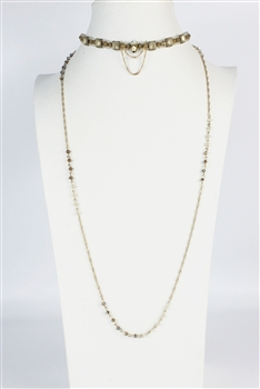 Crystal Chain Necklaces N2395