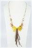 Leatherette Natural Stone Necklace N2396