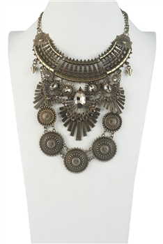 Bohemian Big Ethnic Costume Copper Necklace N2406