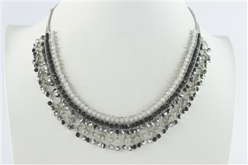 Crystal Beaded Necklaces N2436 - Black