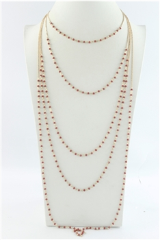 Multi-layer Long Crystal Necklaces N2460